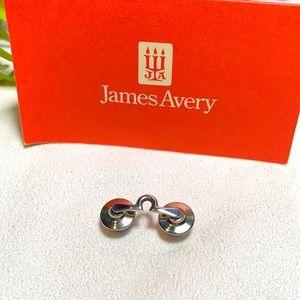 James Avery artisan Charm Silver Omega tie bar tack pin